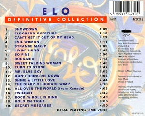 Electric Light Orchestra - Definitive Collection (1992) FLAC